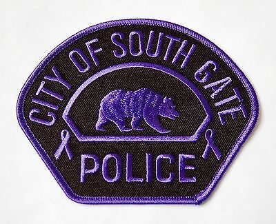 City Of South Gate, Ca Police Purple Domestic Violence Patch (California)
