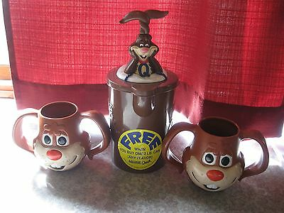 Vintage Nestle Quik Bunny Pitcher and Bunny Mugs