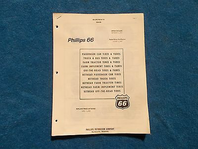 Phillips 66 Sales & Price Pamplet Date April 1, 1963 Very Nice