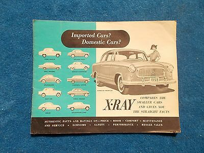 1959 Rambler X-Ray Compact Dealer Sales Borchure Compares to other Cars VW