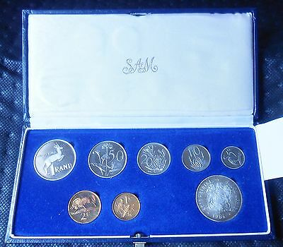 1986  South Africa Suid-Afrika 8-Pieces Proof Set