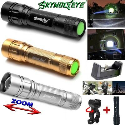 15000LM 3 Modes Flashlight LED T6 LED 18650 Zoomable Torch Mount Bicycle Light
