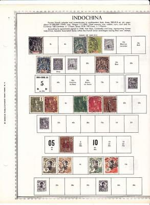 Small Mint, Used Indo-China Collection On Minkus Album Pages - SEE!!!