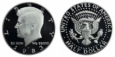 1983 S Gem Bu Proof Kennedy Half Dollar 50 Cent Brilliant Uncirculated Coin Pf