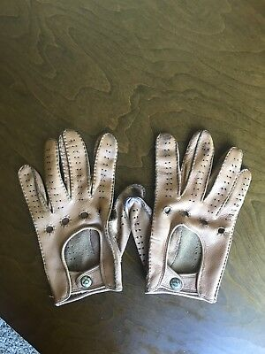 Fratelli Orsini Cognac Leather Driving Gloves Size 9 L-Xl
