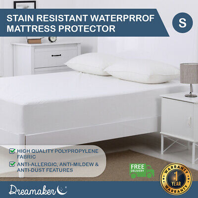 Dreamaker All Size Fully Fitted Waterproof Mattress Pillow Protector Cover