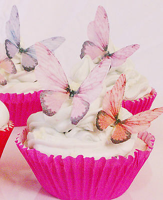 Butterfly Edible Cake Decoration 20pc Fairy Wing Rainbow Party Engagement Desert
