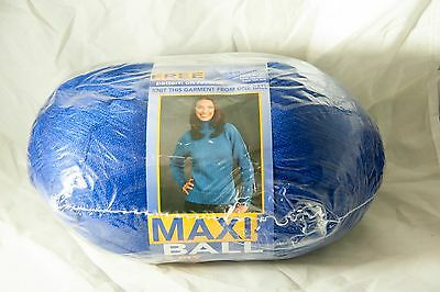 Maxi Ball 8 ply Wool (Shade No 321 Dark Blue) New unopened with Pattern