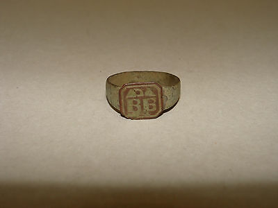 Medieval Ring Bronze.17-18. with the initials