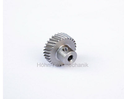 Spur Gear, Gear, 20° Oblique Geared, Module 0,5, Steel, Z30, Left