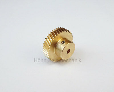 Spur Gear, Gear, 20° Oblique Geared, Module 0,5, made from Brass, Z40, Right