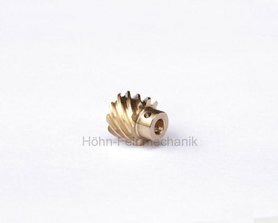 Spur Gear, Helical, 45° Angled Toothed, Module 0,8, from Brass, Z10