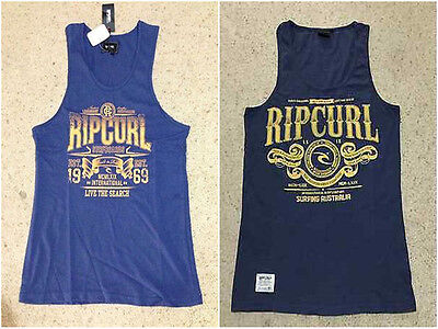 Rip Curl Mens Muscle Tank Top Sleeveless Singlet Gym Bodybuilding Vest Size S M