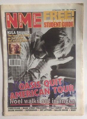 NME September 1996 OASIS Quit US Tour
