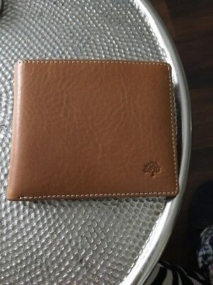 Men's  Tan Leather Wallet Mulberry