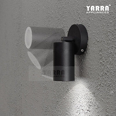 1LT Adjustable Outdoor Wall Light Spot Lights W/ 2xGU10 Halogen Garden Yard Lamp