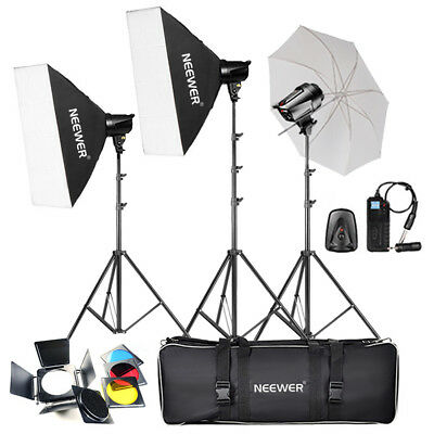 Neewer 540W (180W x 3) Flash stroboscope de Studio professionnelle éclairage Kit