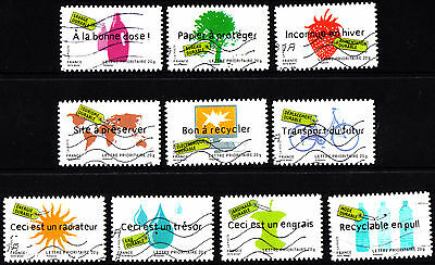France 2008 Sustainable Ideas Complete Set of Stamps P Used S/A