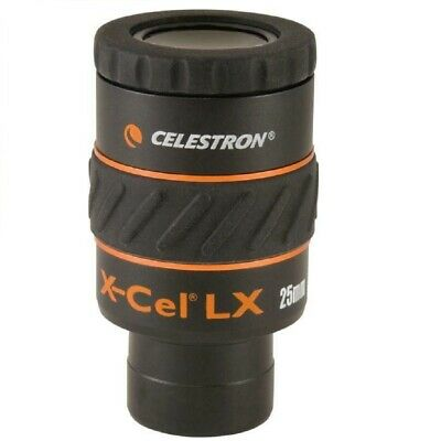 "Celestron X-Cel LX 25 mm Eyepiece 1.25"" Barrels Fully Multi-coated 93426"