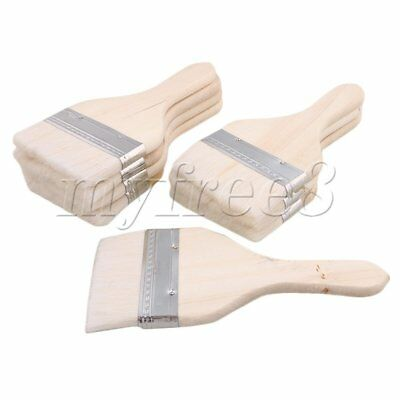 8PCS Stain Varnish Paint Chip Brush Tool with Short Wood Handle 20x9CM