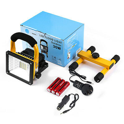 Portable Outdoor LED Work Light Rechargeable Floodlight Waterproof Camping Lamp