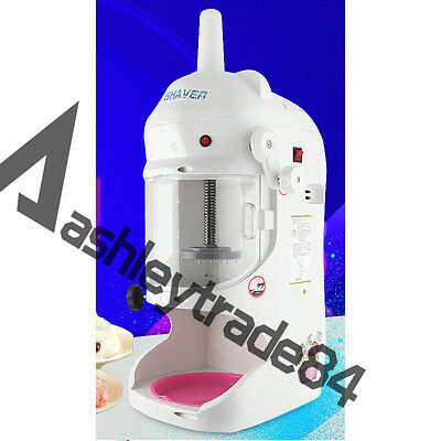 Commercial Snow Ice Block Shaving Machine Ice Crusher Shaved Ice Machine 220V