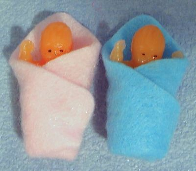 1:12 Scale New Born Babies Boy & Girl Dolls House Miniature People Accessories