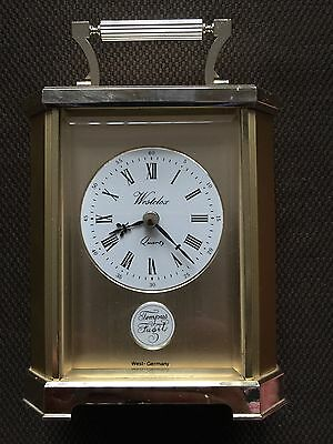 Vintage Quartz Made In West Germany Westclox  Carriage Clock