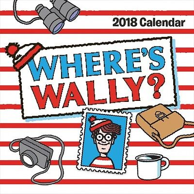 Where's Wally 2018 Square Wall Calendar NEW by Browntrout