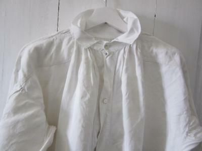 A Stunning Antique French Heavy Linen Large Agricultural Smock Or Nightshirt