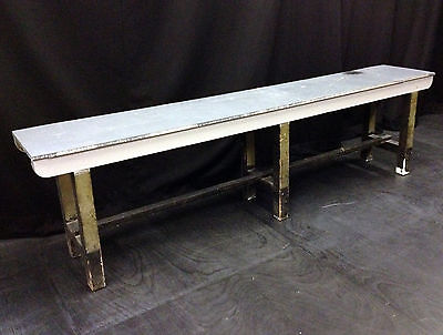Vintage Industrial Long Artists Work Table Bench