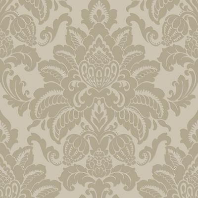 Precious Metals Glisten Damask Gold Wallpaper  - Arthouse 673200 Feature Wall