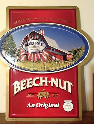 Beech-Nut Chewing Tobacco Metal Sign