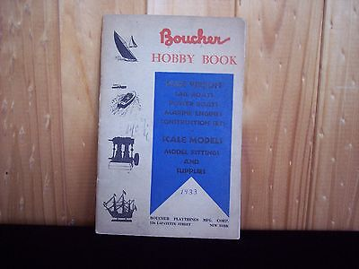 Vintage Model Ship Building Book - Boucher Hobby Book 1933