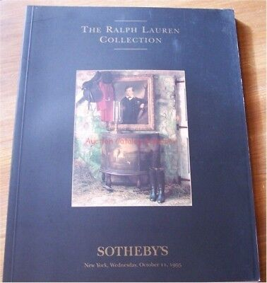 Sothebys NY auction catalog The RALPH LAUREN collection 10/95 Good Mixed sale