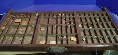 Vtg Printers Wooden Drawer Letterpress Type Case Wood Tray Hamilton- 89 Sections