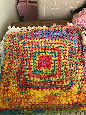 Knitted Baby Blanket Brand New Pram Cot Bedding
