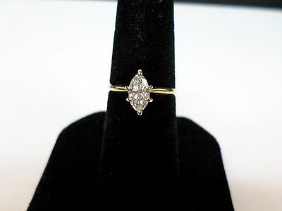 14Kt. Yellow Gold Women's 1/2 Ct. Marquise Cut Diamond Engagement Ring Size 5