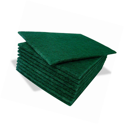 10 Pack Heavy Duty Quality Reusable Green Catering Kitchen Sponge Scourer Pads