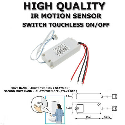 Electronic IR MOTION SENSOR SWITCH TOUCHLESS ON/OFF Kitchen Cabinet Light Doors