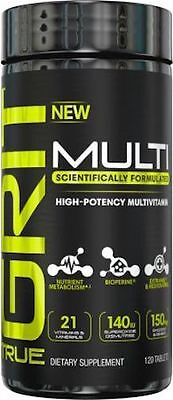 True GRIT High Potency Multivitamin 120 Tablets Free Shipping 2019 Expiration