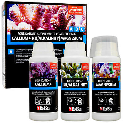 Red Sea Foundation Supplements - Complete Pack Marine Reef Treatments 3x 250ml