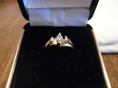 10K Yellow Gold Diamond Ring - Size 4 - Marked GTR