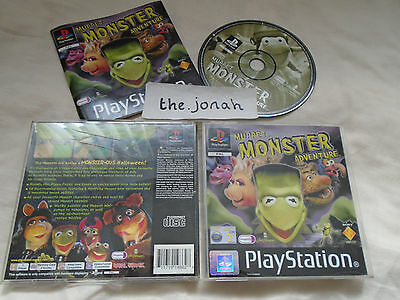 Muppet Monster Adventure PS1 (COMPLETE) Sony PlayStation black label