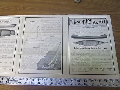 Vintage Thompson Boat Co.  Wood Boats Advertising Brochure Canoes Sailboats