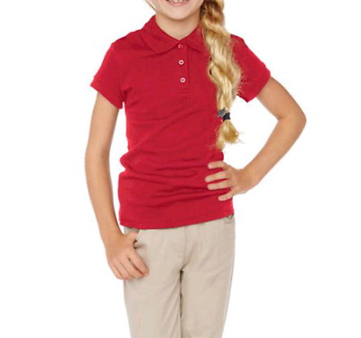 George Girls School Uniform Shirt Short Sleeve Red Size M 7-8 New With Tag