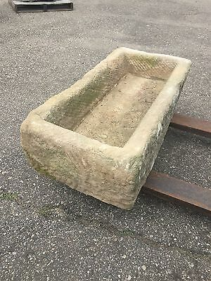 Reclaimed granite stone Trough Japanese garden water antique basin fountain