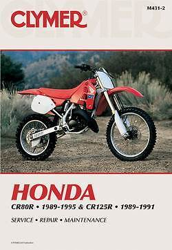 Clymer Manual Honda CR80R 1989-1995 & CR125R 1989-1991 M431-2