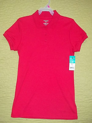 George Juniors School Uniform Girls Shirt Short Sleeve Red Size 1XS New With Tag