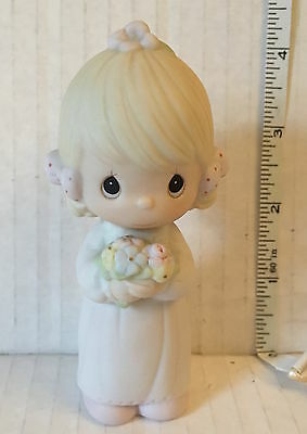 PRECIOUS MOMENTS FIGURE - BRIDESMAID 1983 - E-2831  dove